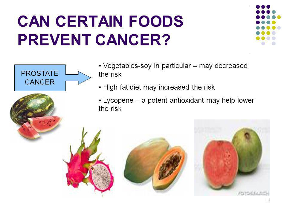 foods that help prevent prostate cancer