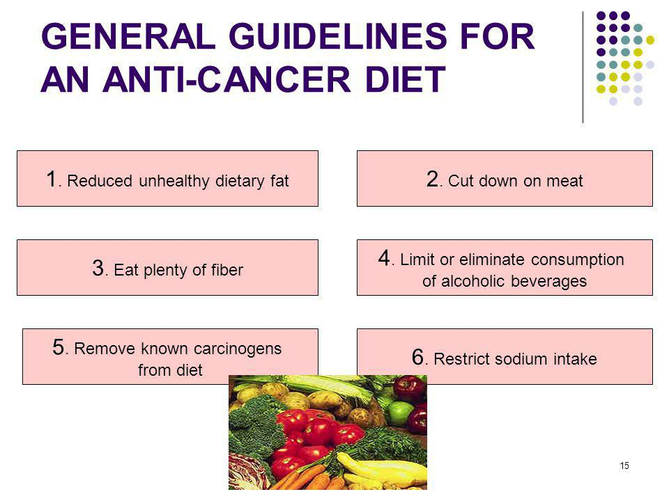 GENERAL GUIDELINES FOR AN ANTI-CANCER DIET