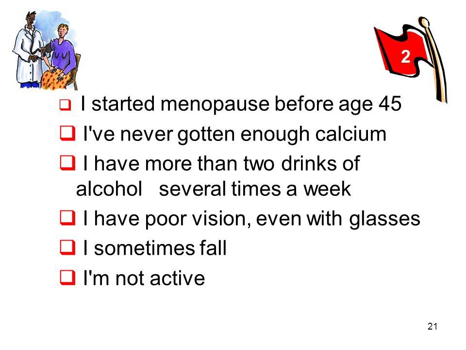 I ve never gotten enough calcium