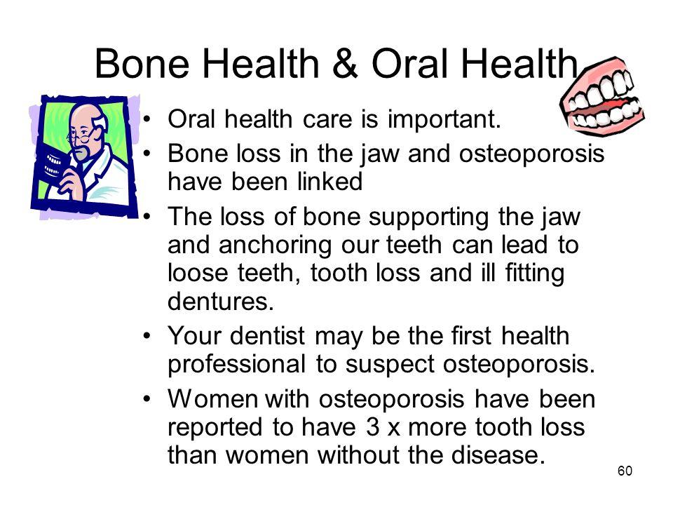 Bone Health & Oral Health
