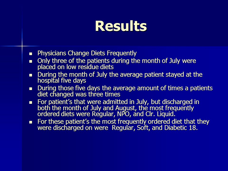 Results Physicians Change Diets Frequently
