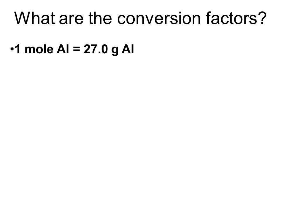 What are the conversion factors