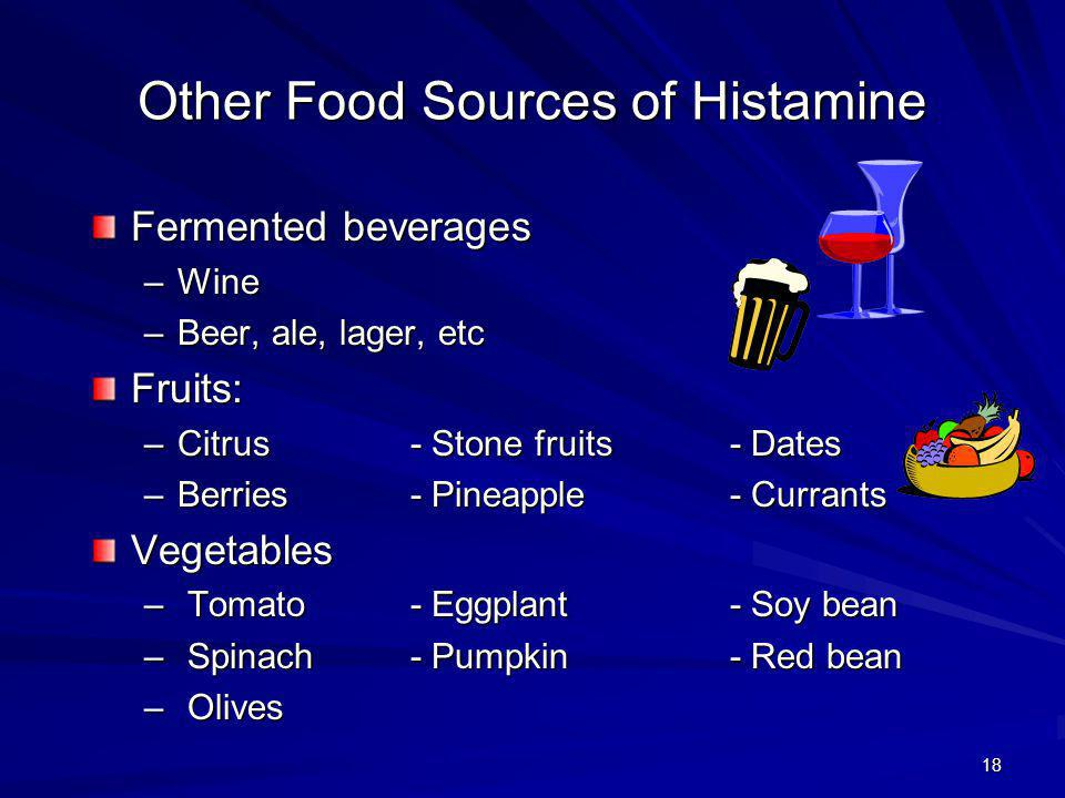 Other Food Sources of Histamine