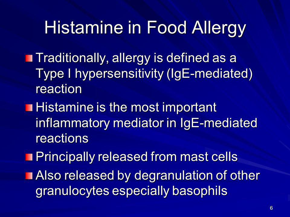 Histamine in Food Allergy