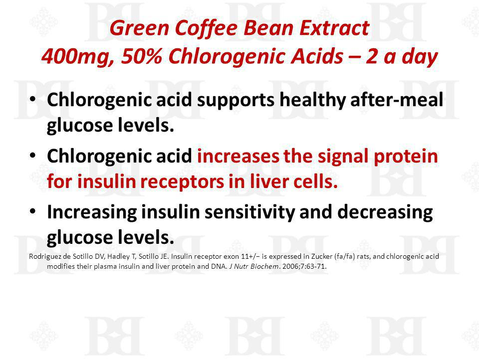 Green Coffee Bean Extract 400mg, 50% Chlorogenic Acids – 2 a day