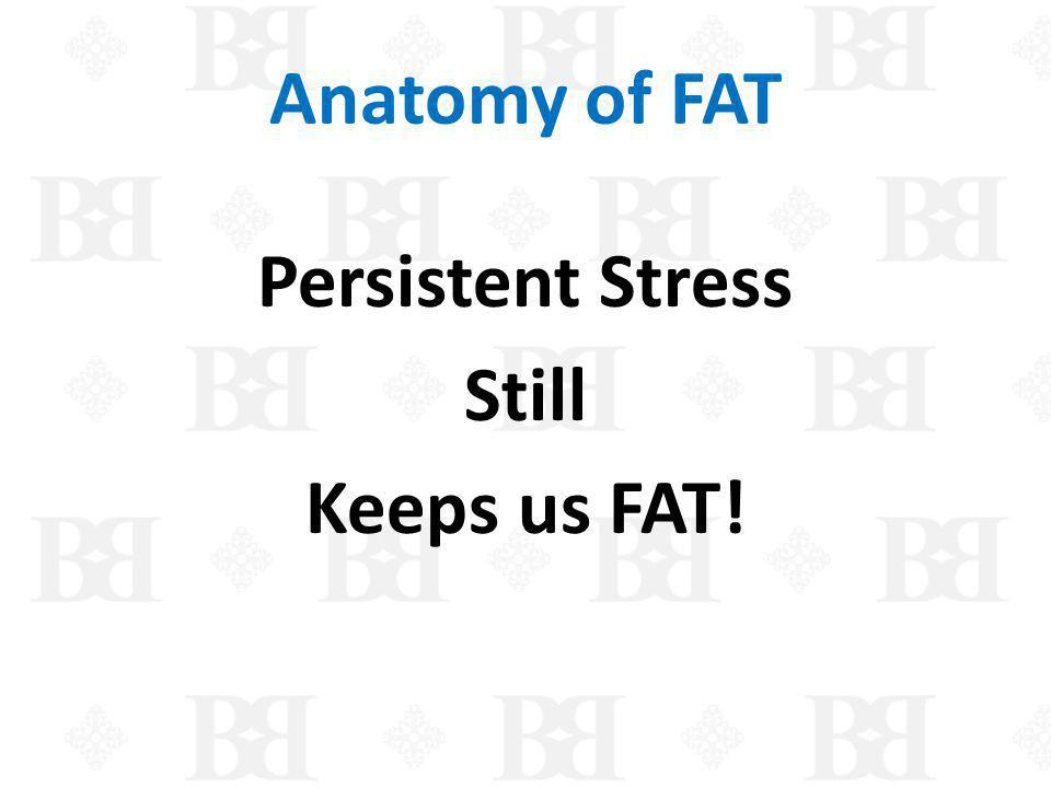 Persistent Stress Still Keeps us FAT!