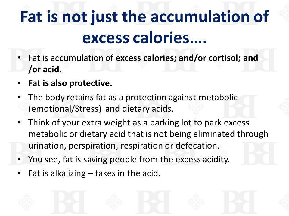 Fat is not just the accumulation of excess calories….