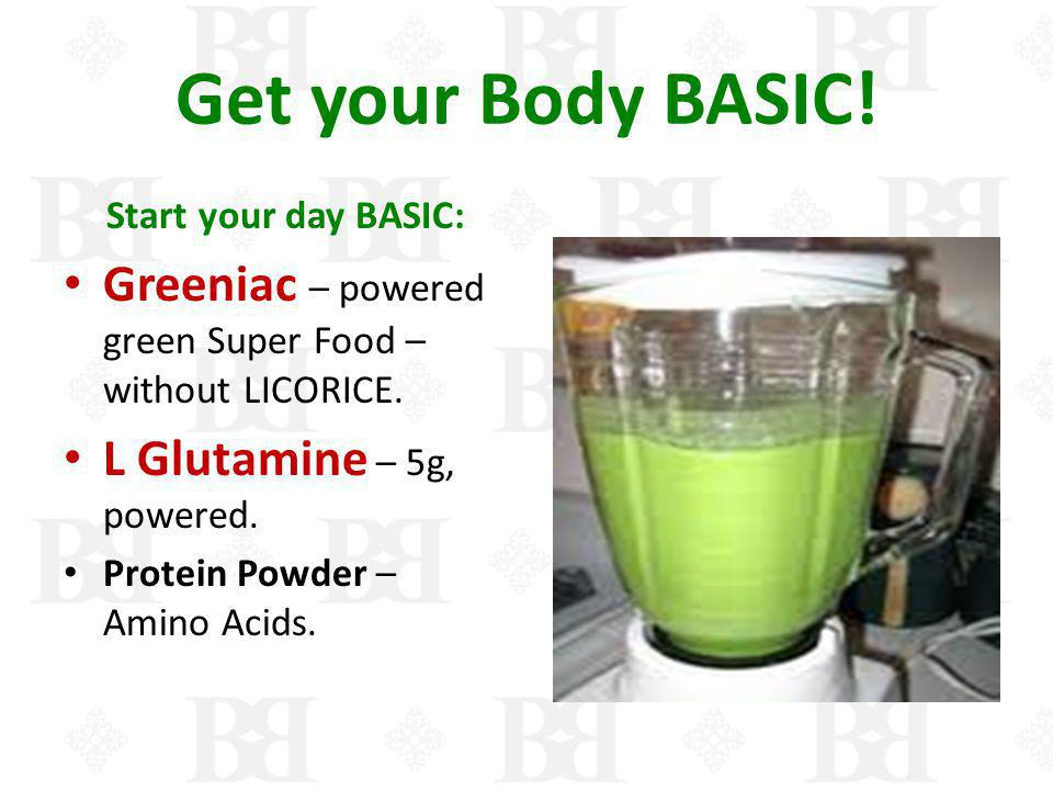 Get your Body BASIC! Start your day BASIC: Greeniac – powered green Super Food – without LICORICE.