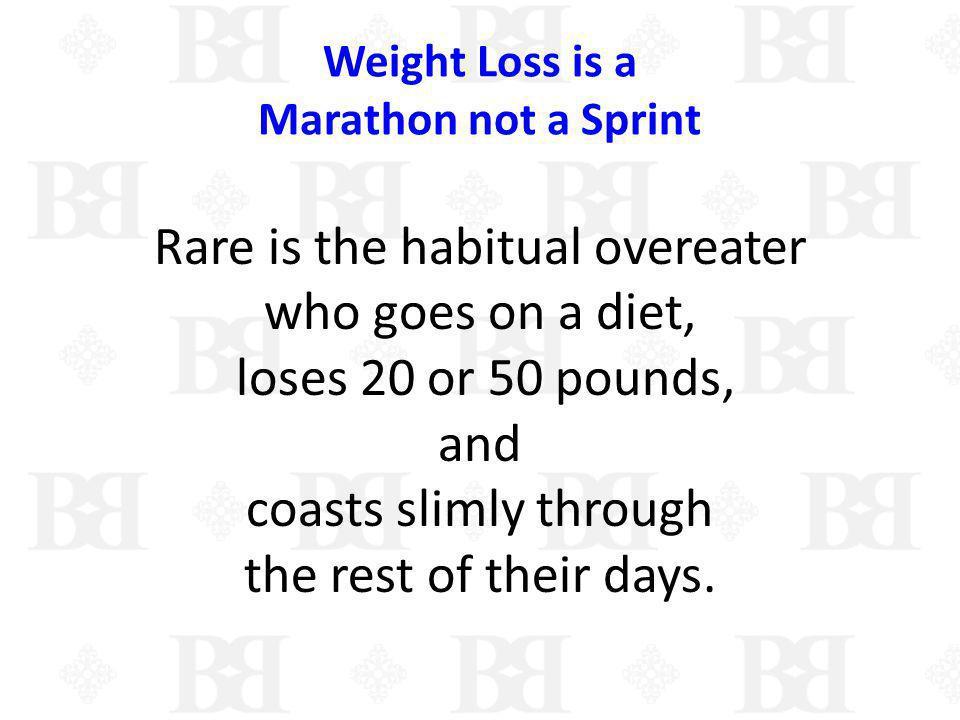 Weight Loss is a Marathon not a Sprint