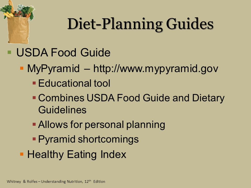 Diet-Planning Guides USDA Food Guide