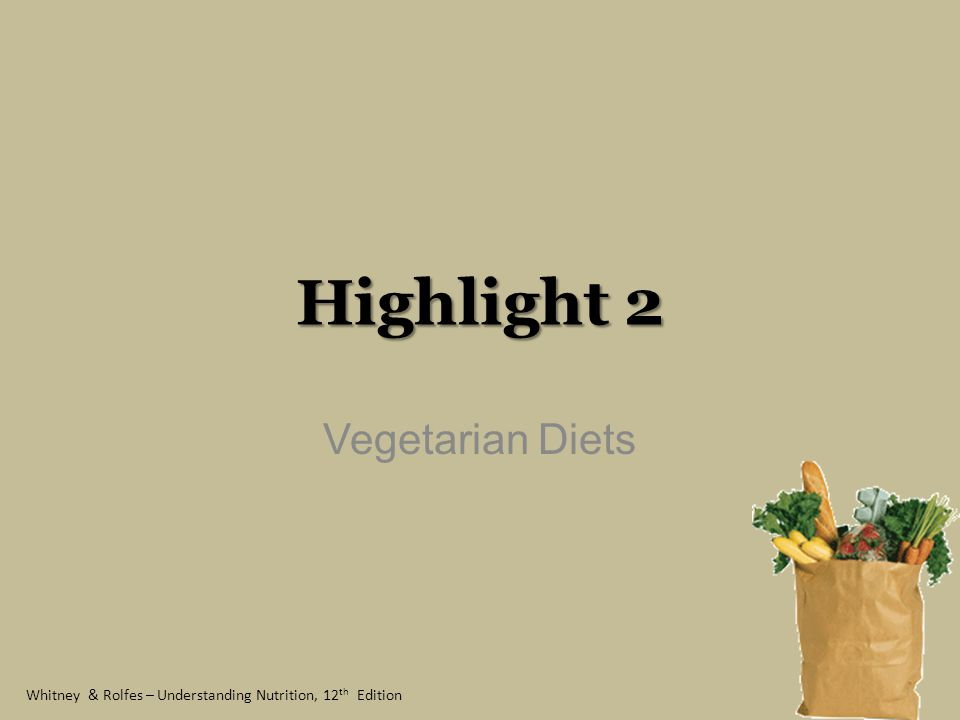Highlight 2 Vegetarian Diets