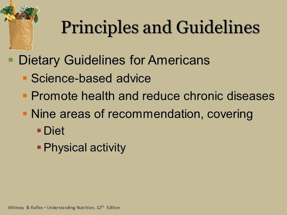 Principles and Guidelines