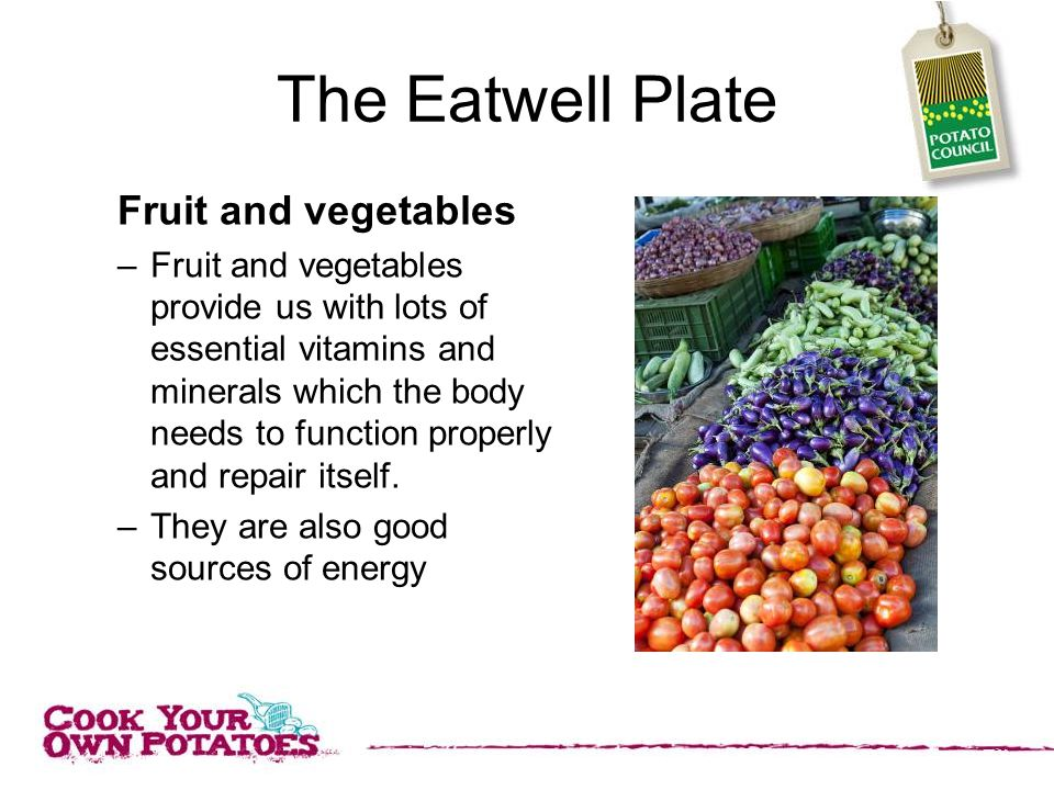 The Eatwell Plate Fruit and vegetables