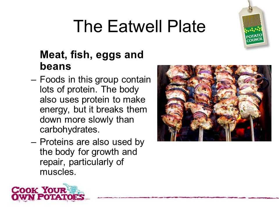 The Eatwell Plate Meat, fish, eggs and beans