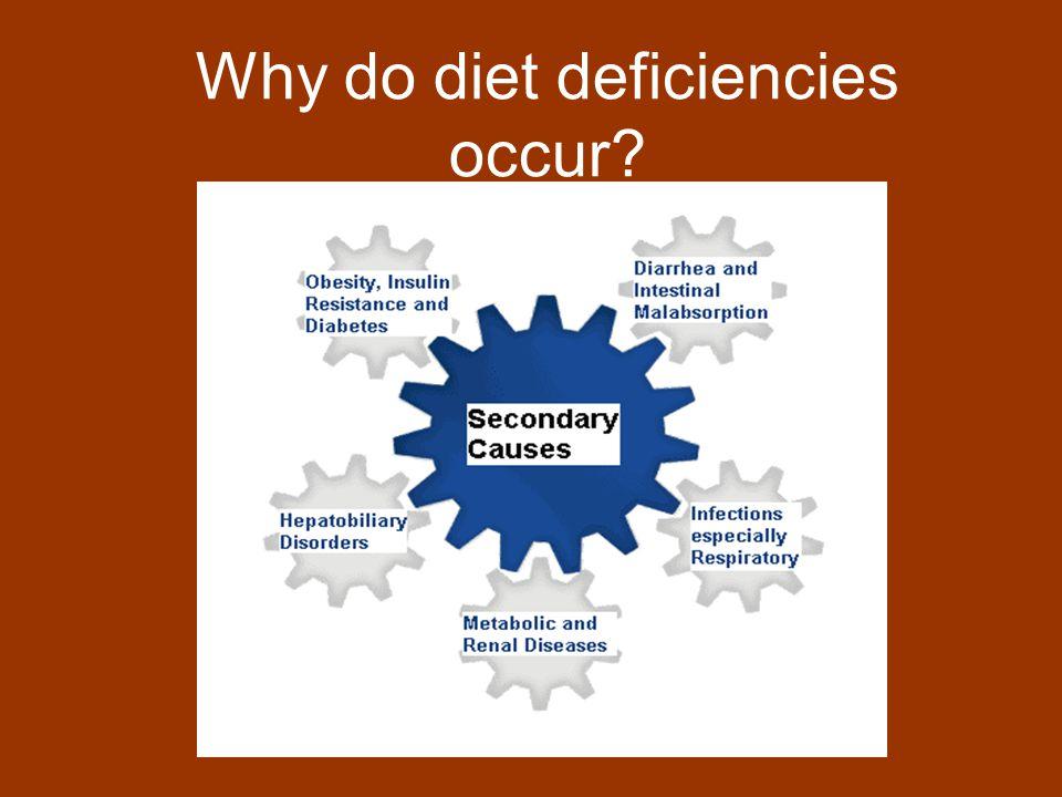 Why do diet deficiencies occur