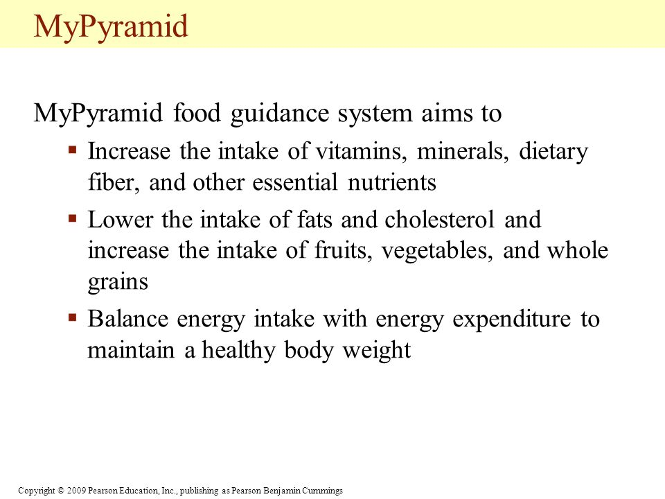 MyPyramid MyPyramid food guidance system aims to