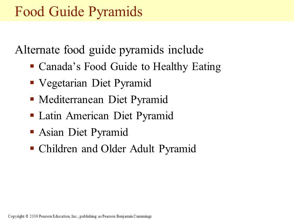 Food Guide Pyramids Alternate food guide pyramids include
