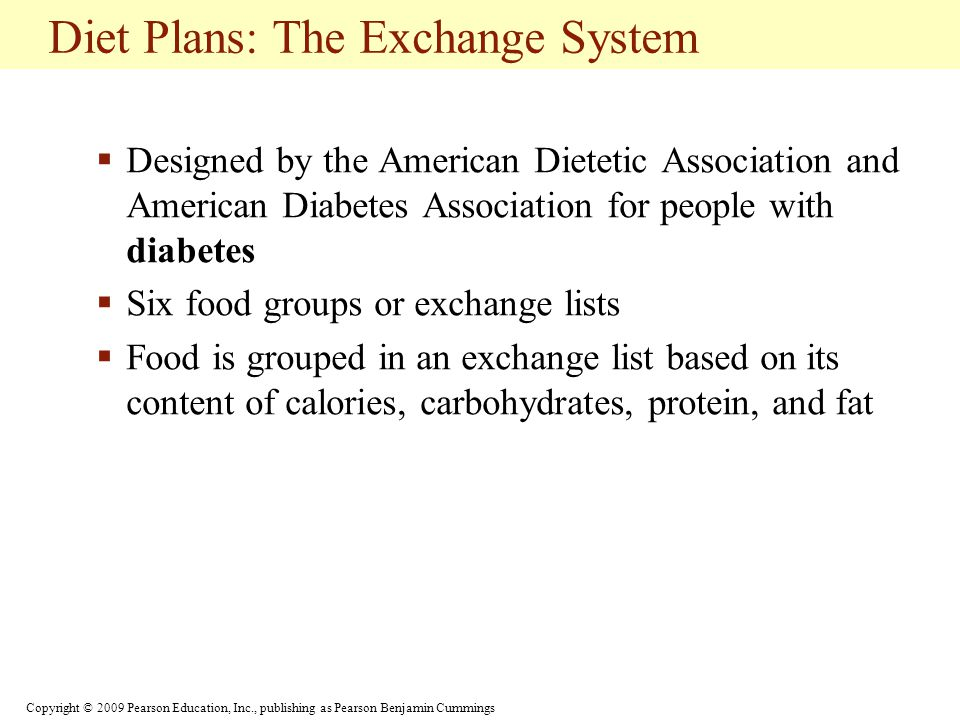 Diet Plans: The Exchange System