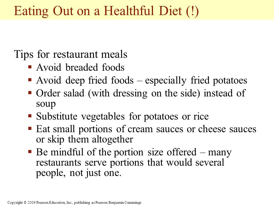Eating Out on a Healthful Diet (!)
