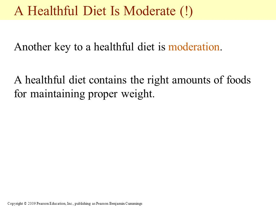 A Healthful Diet Is Moderate (!)
