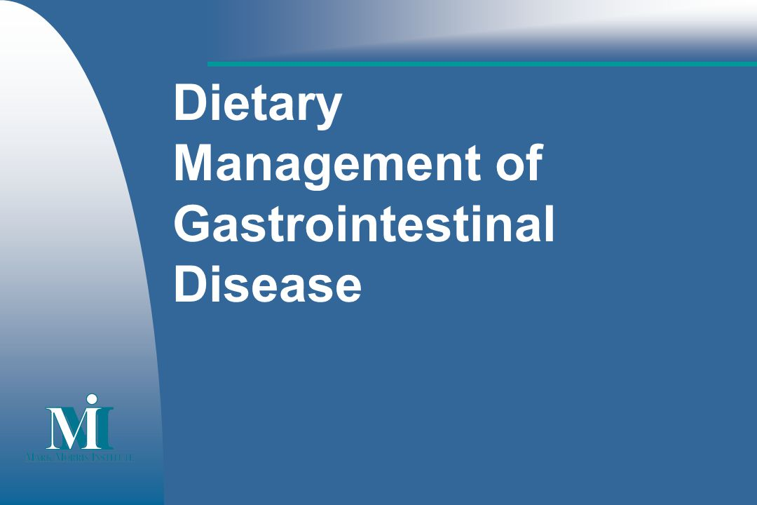 Dietary Management of Gastrointestinal Disease