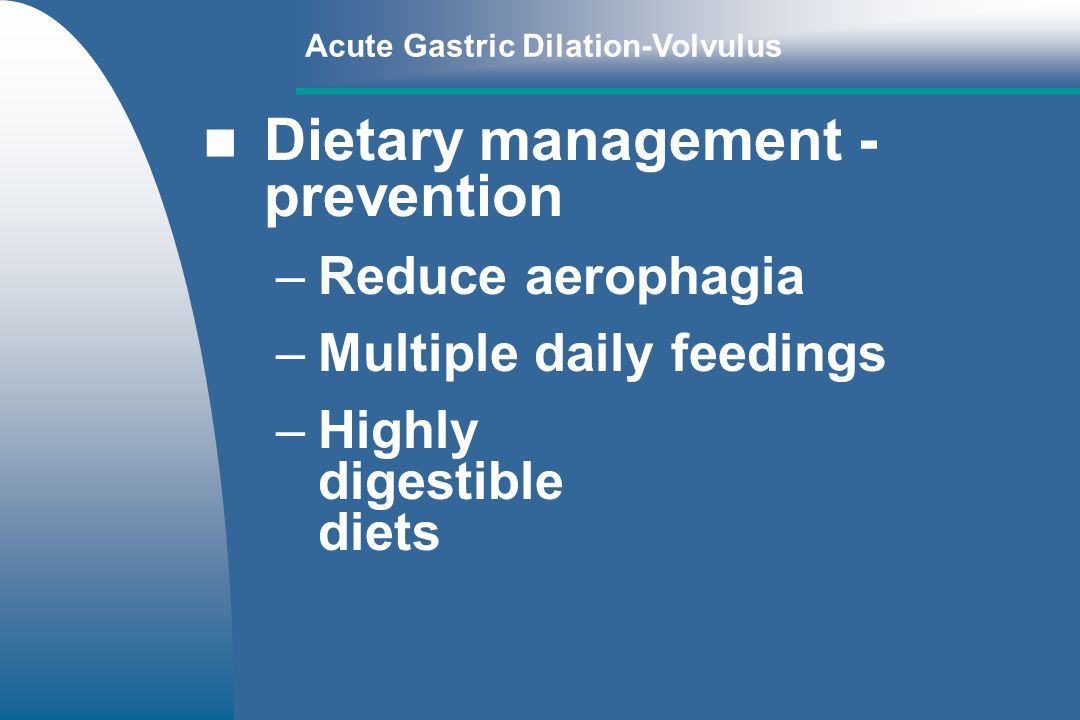Dietary management - prevention