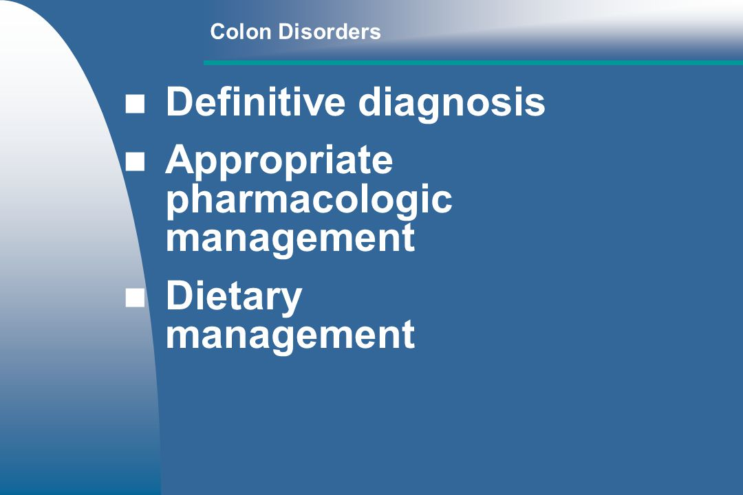 Appropriate pharmacologic management