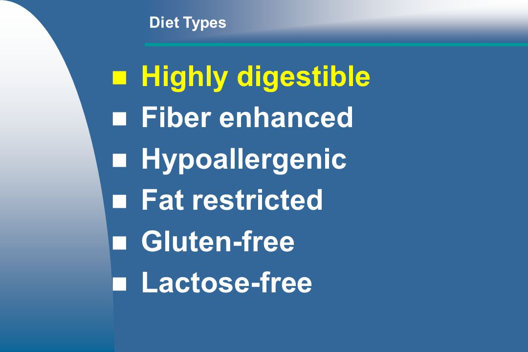 Highly digestible Fiber enhanced Hypoallergenic Fat restricted