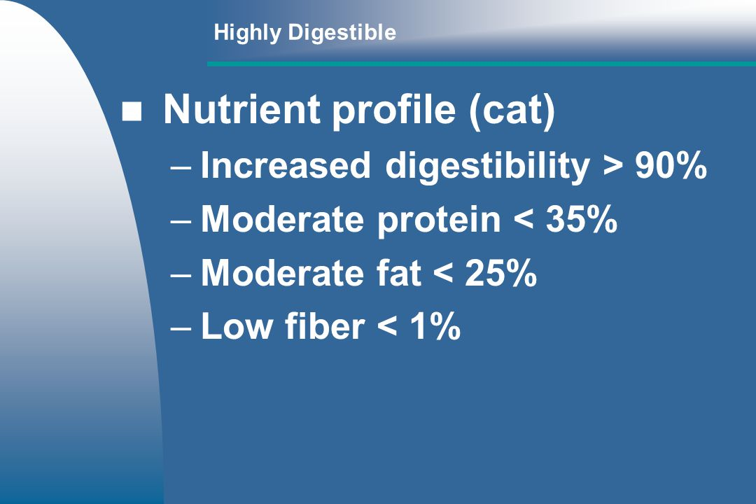 Nutrient profile (cat)