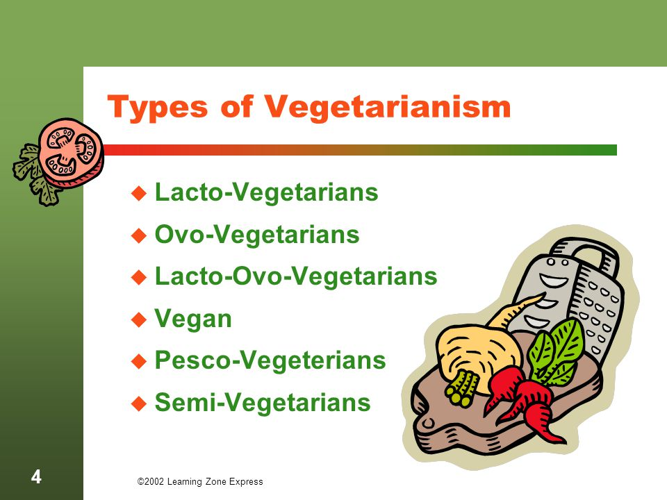 Types of Vegetarianism