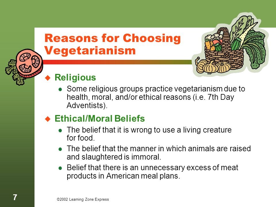 Reasons for Choosing Vegetarianism