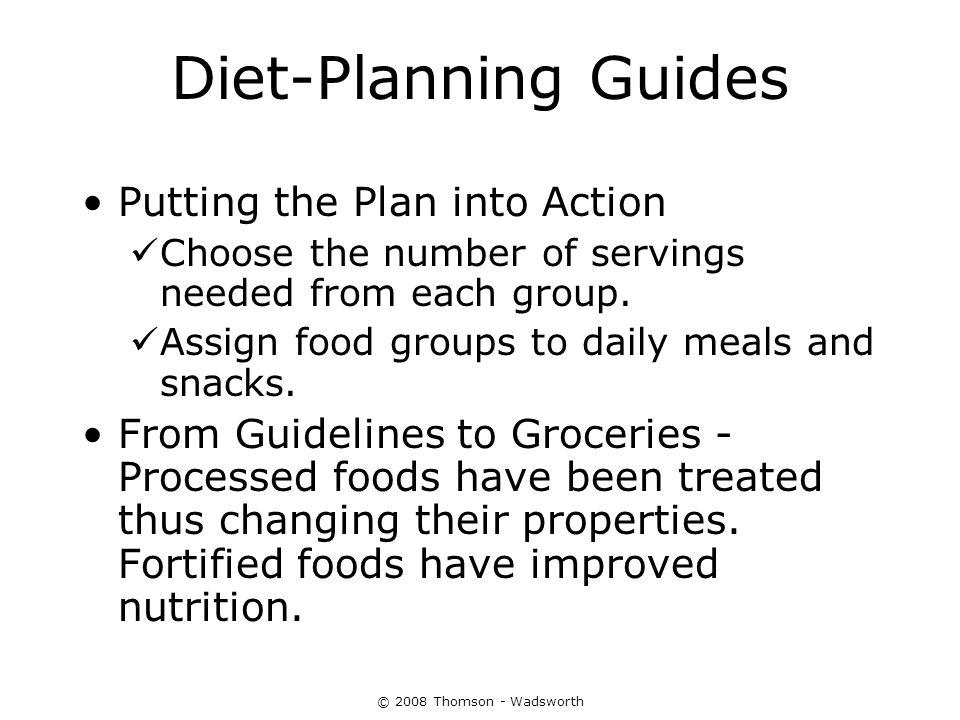Diet-Planning Guides Putting the Plan into Action