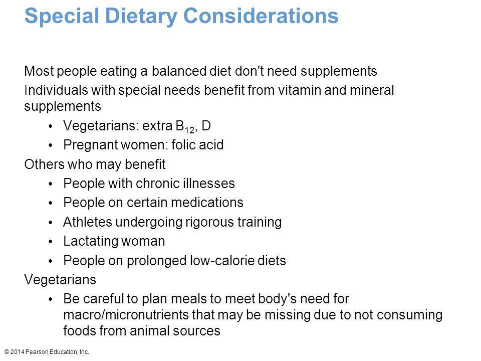 Special Dietary Considerations
