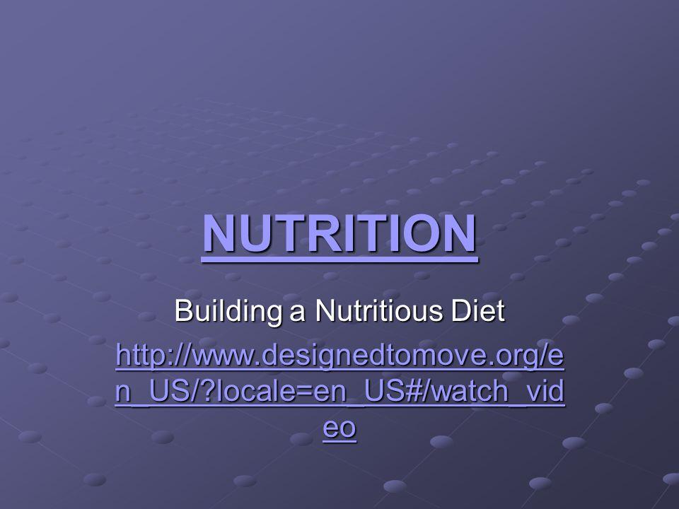 Building a Nutritious Diet