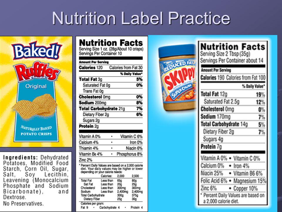 Nutrition Label Practice