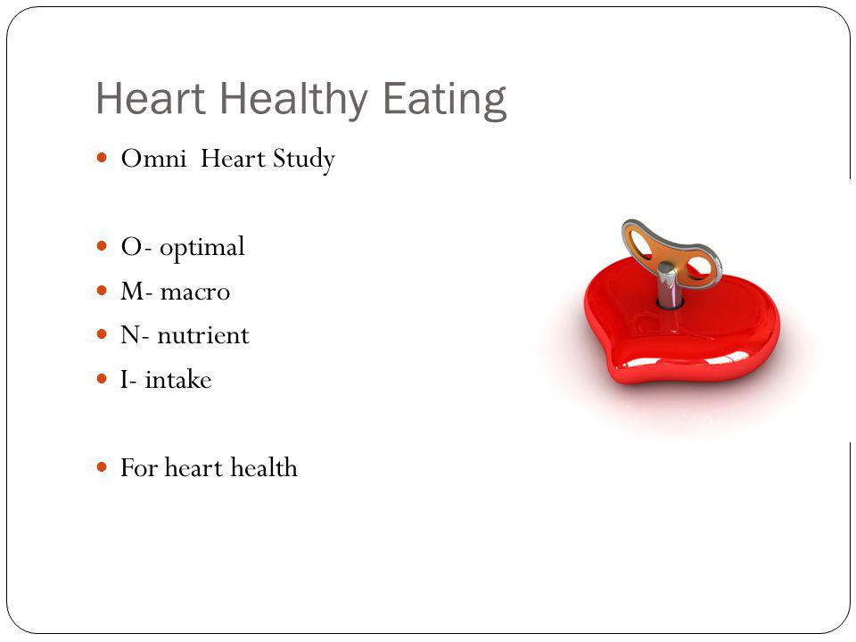 Information about the OmniHeart diets - Harvard Health