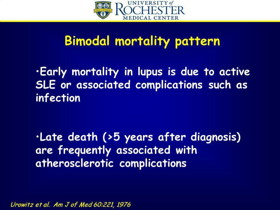 Bimodal mortality pattern
