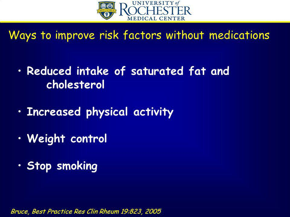 Ways to improve risk factors without medications