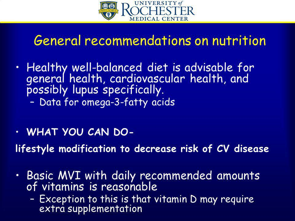 General recommendations on nutrition
