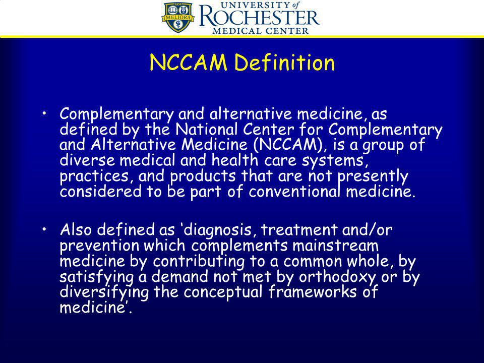 NCCAM Definition