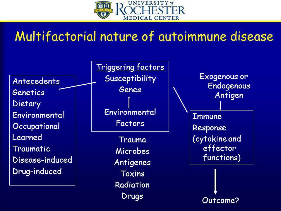 Multifactorial nature of autoimmune disease