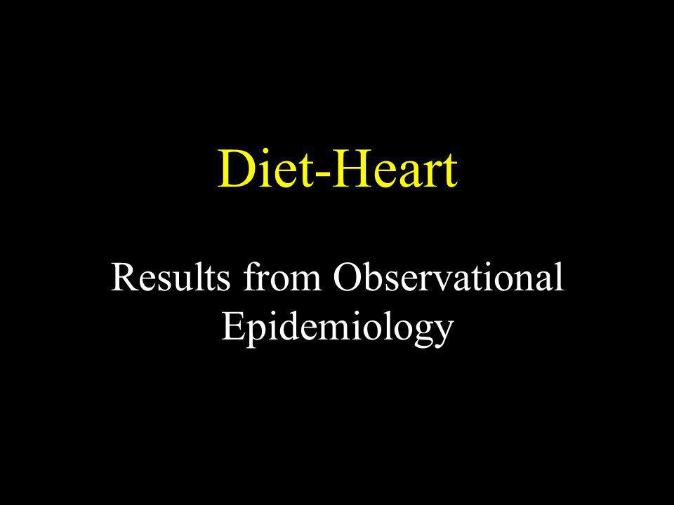 Results from Observational Epidemiology