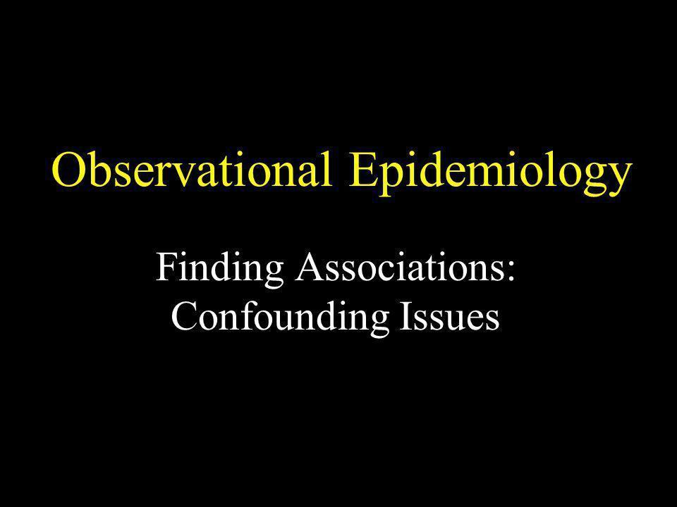 Observational Epidemiology