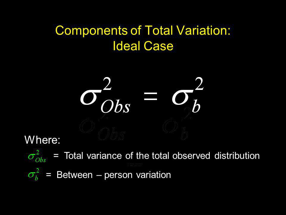 Components of Total Variation: Ideal Case