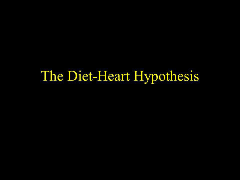 The Diet-Heart Hypothesis