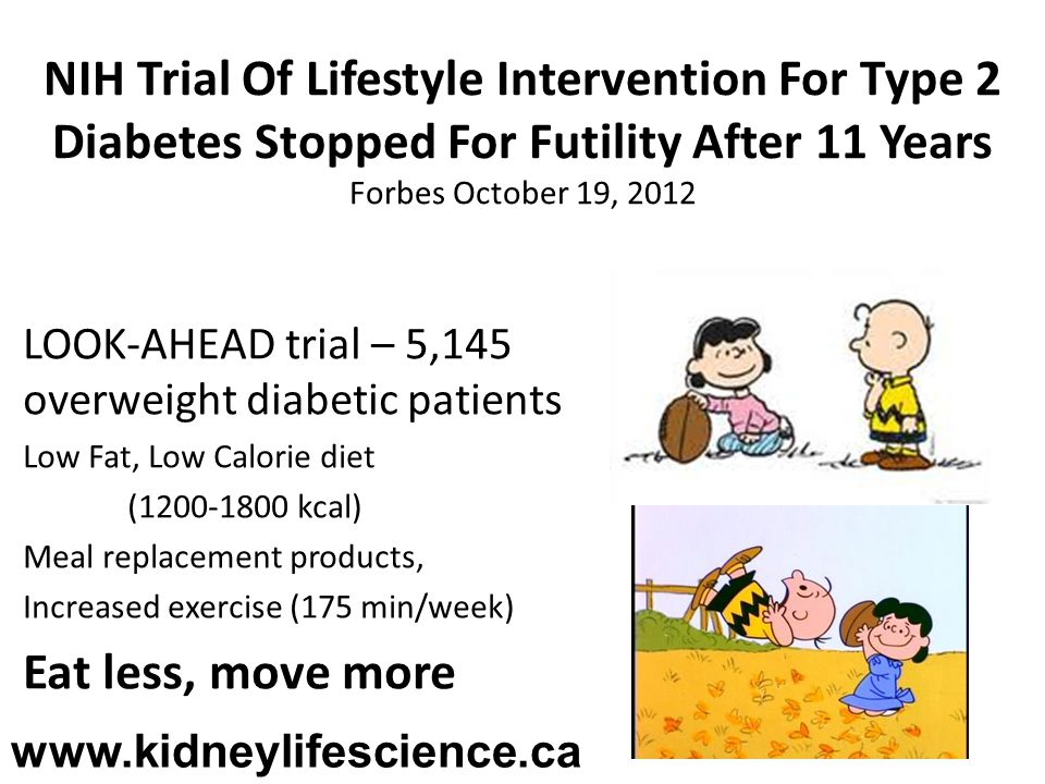 NIH Trial Of Lifestyle Intervention For Type 2 Diabetes Stopped For Futility After 11 Years Forbes October 19, 2012