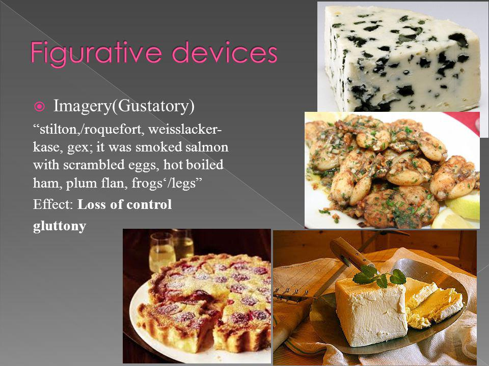 Figurative devices Imagery(Gustatory)