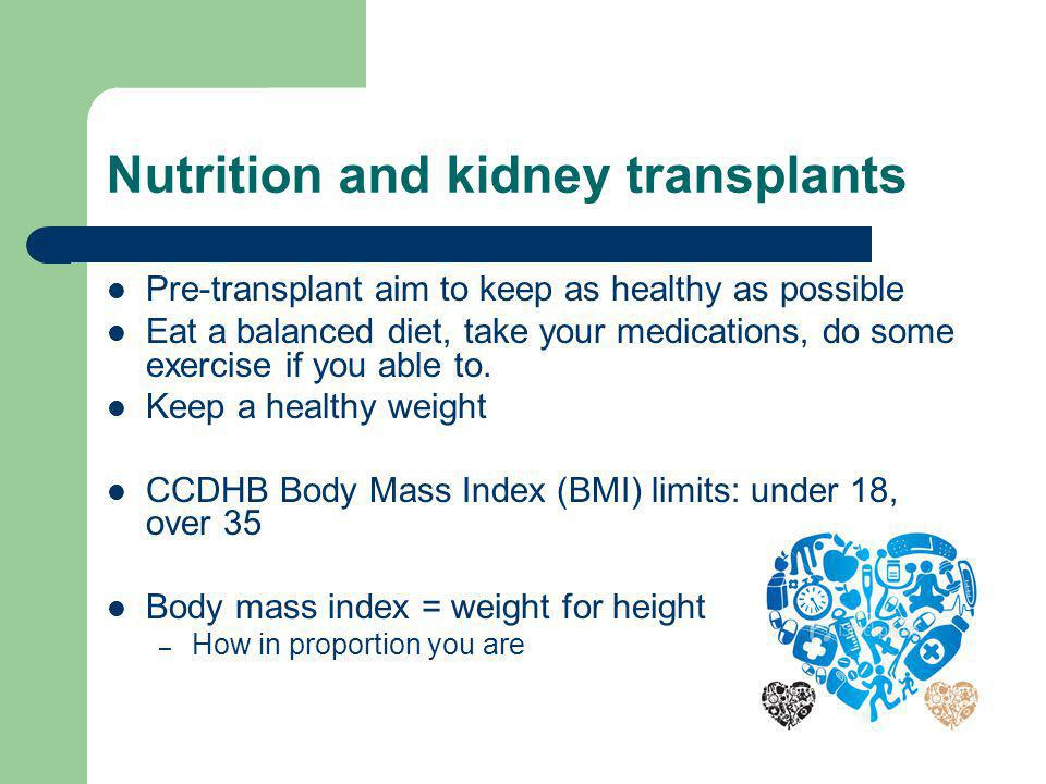 Nutrition and kidney transplants
