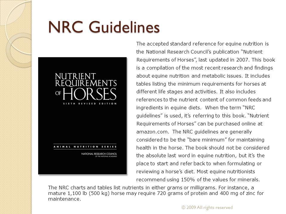 NRC Guidelines