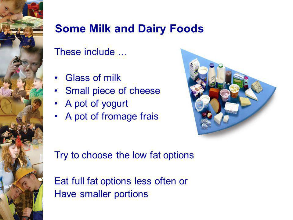 Some Milk and Dairy Foods